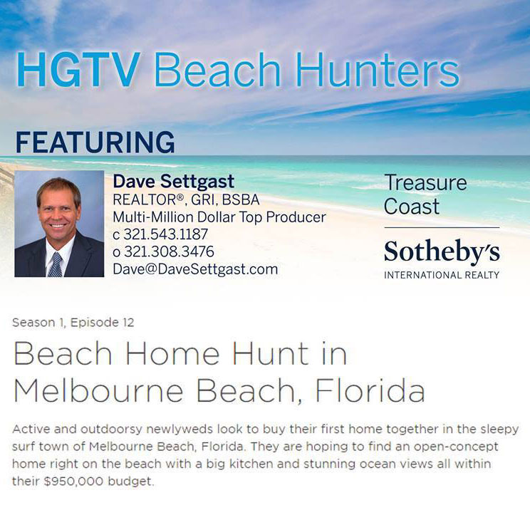 Dave Settgast appearing on HGTV's Beach Hunters TV show